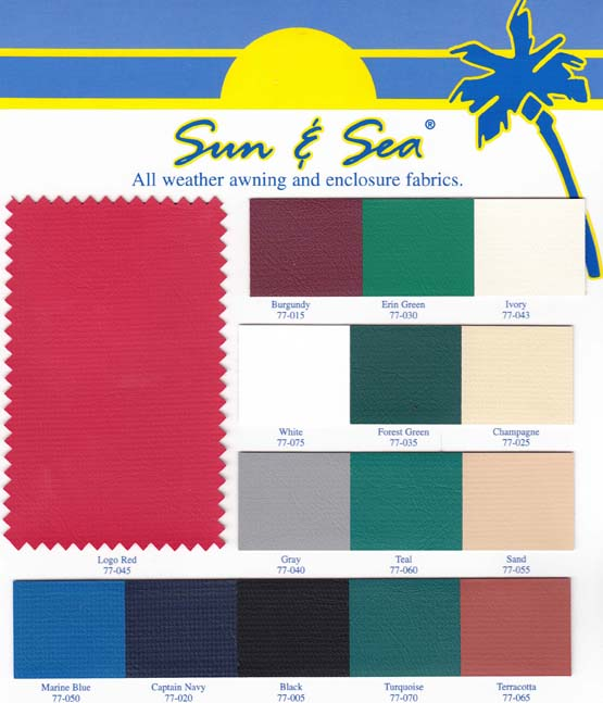 sun & sea all weather awning and enclosure fabrics